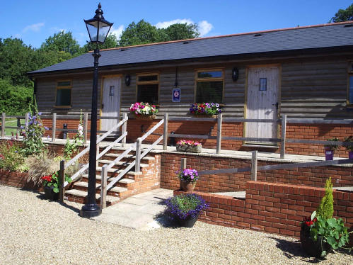 Hazelwood Lodges-outside view, sunny day